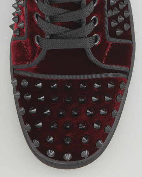 Louis Orlato Spiked High-Top Sneaker, Rouge
