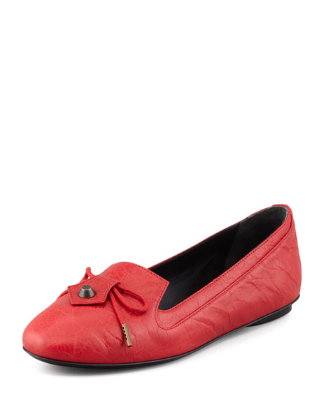 Arena Leather Smoking Slipper, Rouge Cardinal