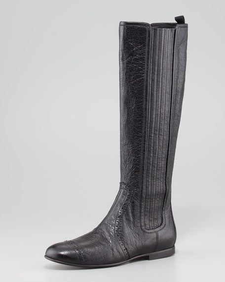 Arena Stretch Leather Knee Boot