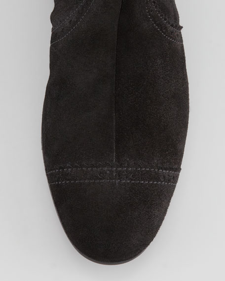 Arena Suede Flat Knee Boot