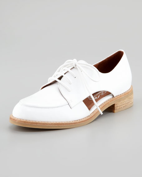 Jeffrey Campbell Rossdale Open-Side Oxford, White