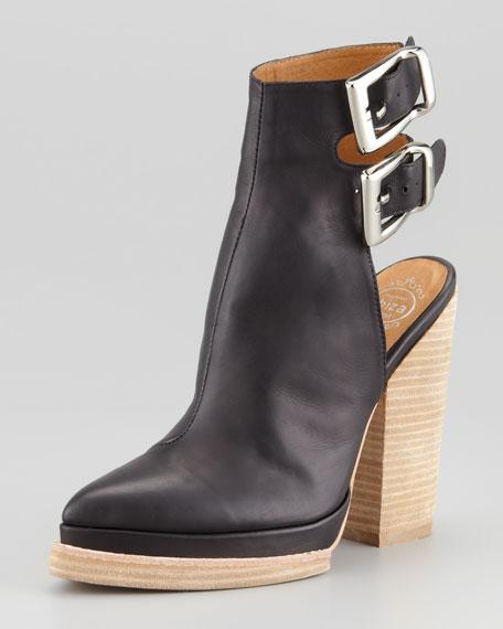 National Block-Heel Leather Bootie (Stylist Pick!)