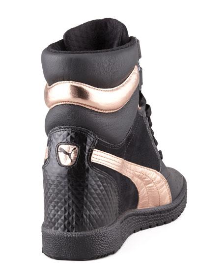 86ea64f4a2 Puma McQueen Sky Hidden-Wedge Studded Sneaker, Black