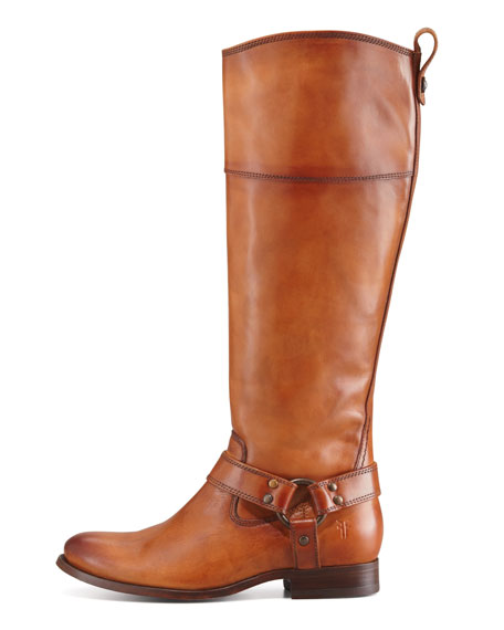 Melissa Harness Extended Calf Riding Boot, Camel