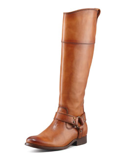 Frye Melissa Harness Extended Calf Riding Boot, Camel