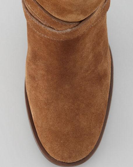 Livingston Suede Riding Boot, Mocha