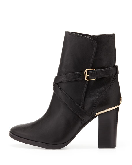 Livingston Leather Ankle Boot, Black