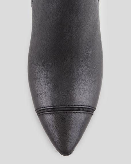 Bernice Pointy-Toe Ankle Bootie, Black