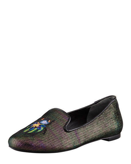 Cailyn Holographic Beetle Smoking Slipper