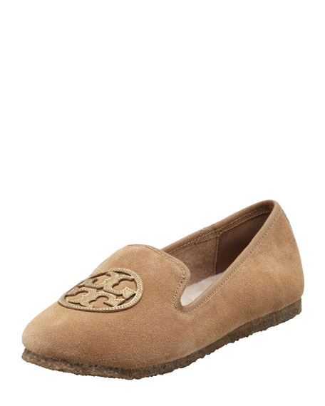 Billy Suede Smoking Slipper, Camel