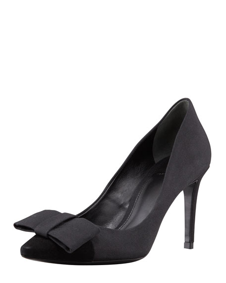 Aria Grosgrain Bow Pump, Black
