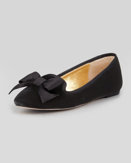 audrina velvet smoking slipper, black