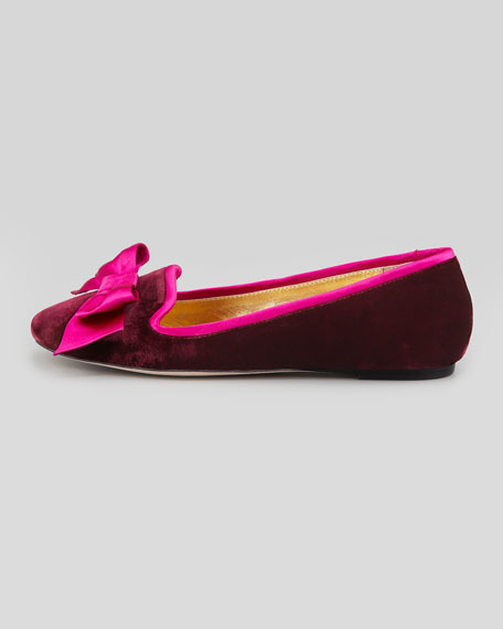 audrina velvet smoking slipper, bordeaux