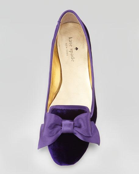 audrina velvet smoking slipper, viola