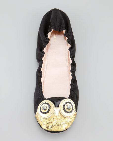 cuckoo owl satin scrunch slipper