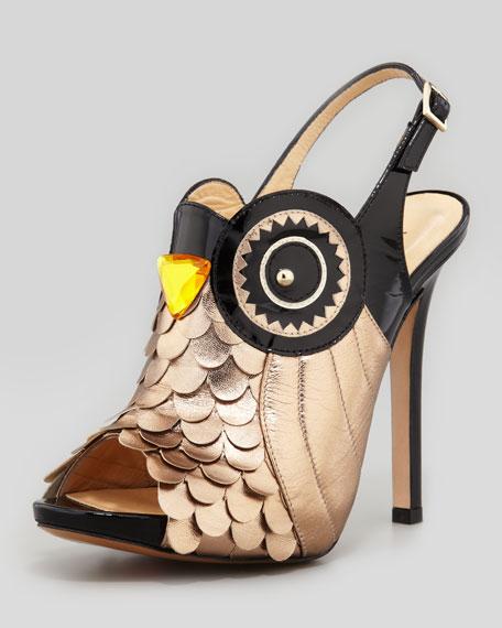 kate spade new york night owl slingback pump, black/rose gold