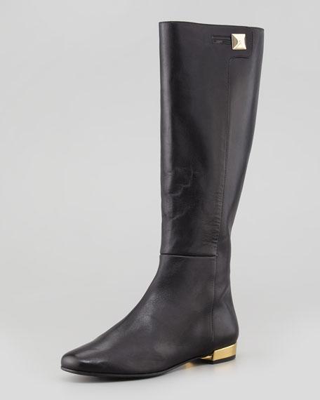 oliver flat golden-heel knee boot