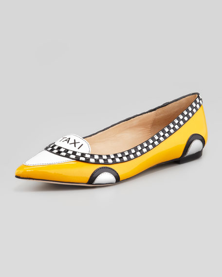 go taxi pointed-toe flat