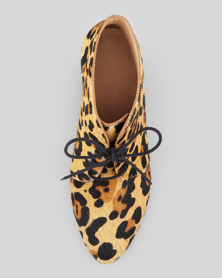 kate spade leopard booties