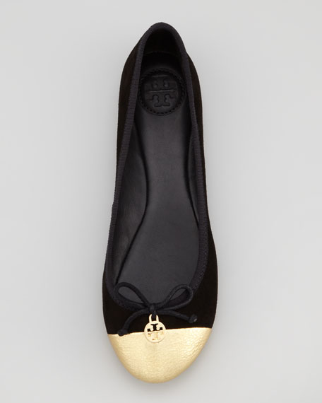 b4c73a60584 Tory Burch Chelsea Cap-Toe Ballerina Flat