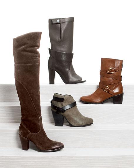 Rag & Bone Harrow Waxed Suede Ankle Boot, Clay