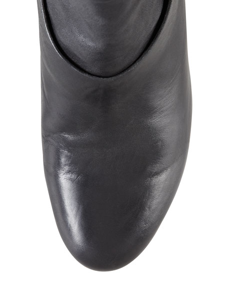 Kendall Leather Ankle Boot, Black