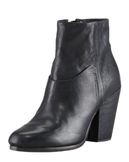 Rag & Bone Kendall Leather Ankle Boot, Black