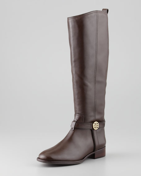 Bristol Leather Riding Boot, Coconut