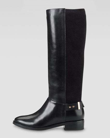 Adler Flat Knee Boot, Black