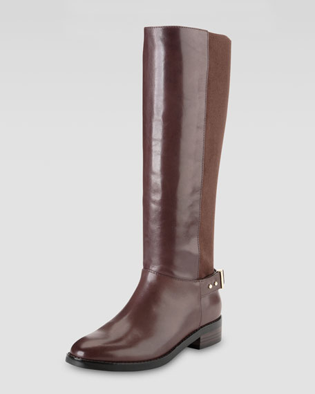 Adler Flat Knee Boot, Chestnut