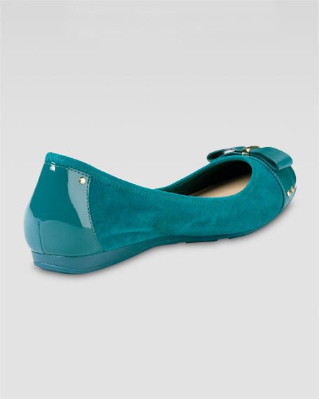 Air Monica Suede/Patent Ballerina Flat, Teal