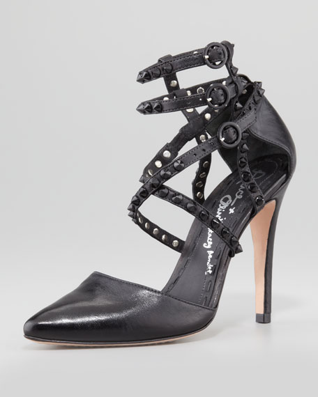 Drixa Studded Ankle-Wrap Pump