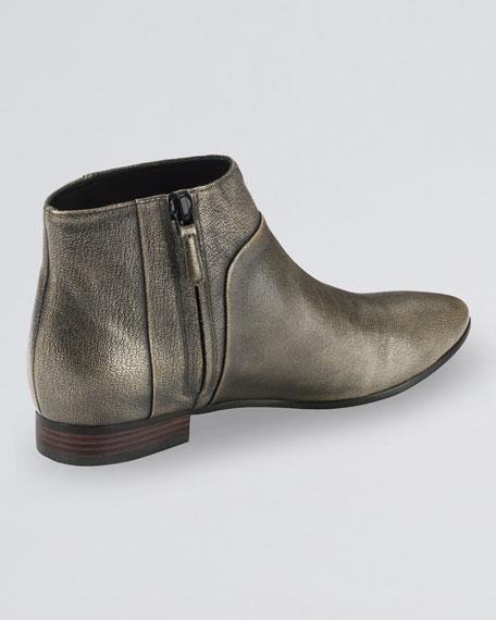 Allen Leather Bootie, Black/Metallic