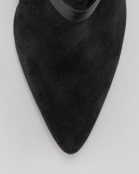 Owen Pointy-Toe Wedge Bootie, Black
