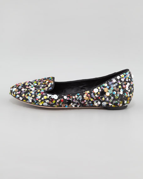 Drake Sequined Confetti Smoking Slipper