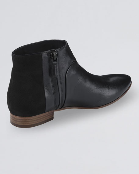 Allen Leather Bootie, Black