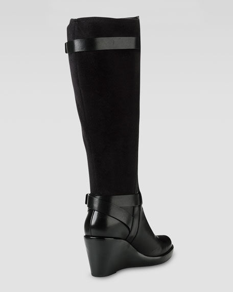 cole haan fulton wedge boot black