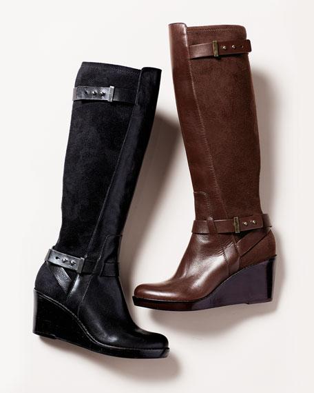 Fulton Wedge Boot, Black