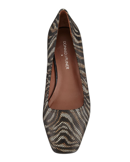 Pisa Crepe Wedge Pump, Zebra
