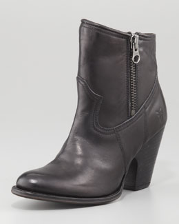 Frye Angela Short Modified Western Boot, Black
