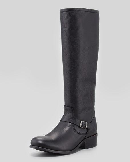 Lynn Strap Tall Boot, Black