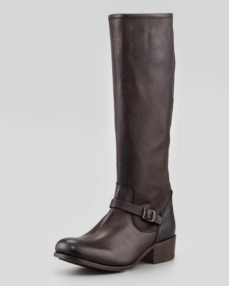 Lynn Strap Tall Boot, Dark Brown