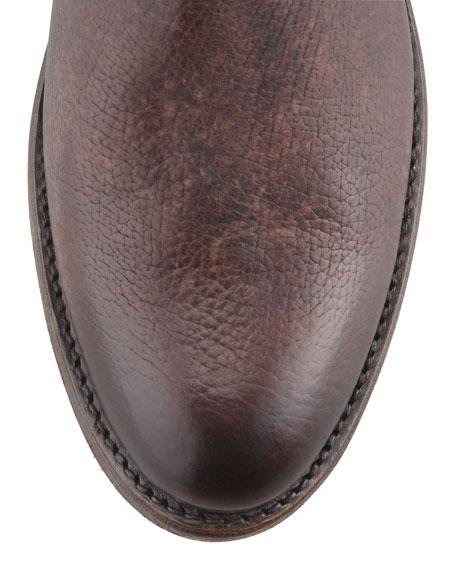 Jayden Motorcycle Buckle Boot, Dark Brown