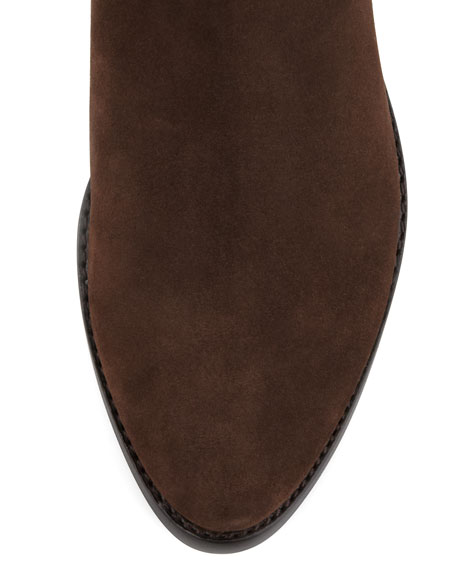 Nellie Old-Suede Riding Boot, Espresso