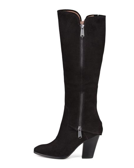 Sandora Suede Double-Zip Tall Boot
