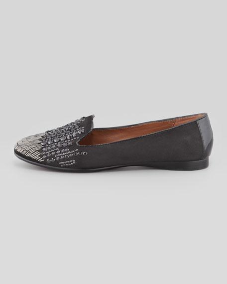 Dita-KS Jewel Smoking Slipper, Black