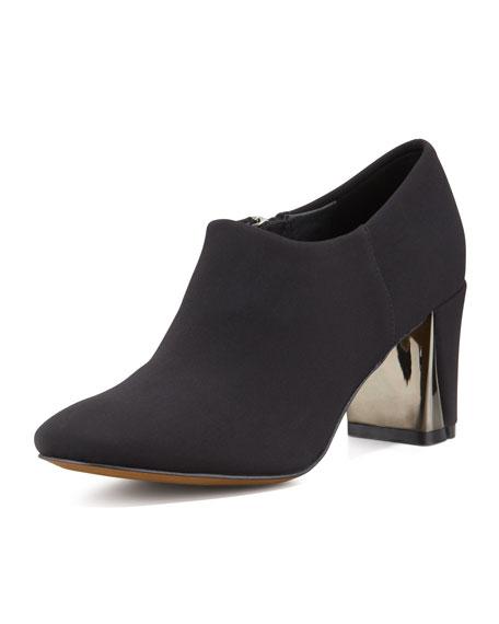 Calla Mirror-Heel Ankle Bootie