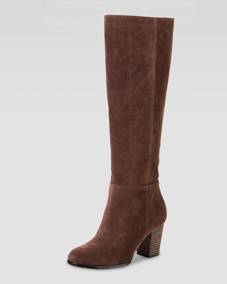 Cassidy Suede Knee Boot, Chestnut