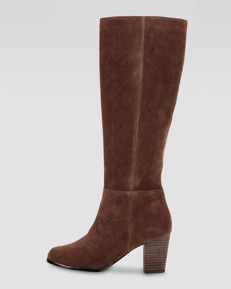 Cassidy Suede Knee Boot, Chestnut