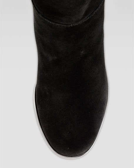 Cassidy Air Tall Suede Boot, Black